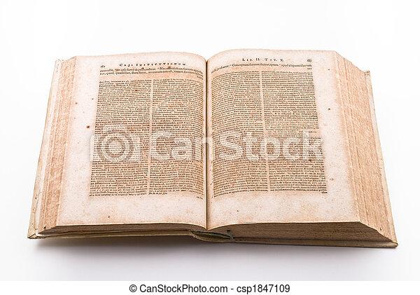 Ancient law book - csp1847109