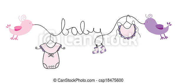 Baby Girl Line Drawing Baby Girl Clothes Line