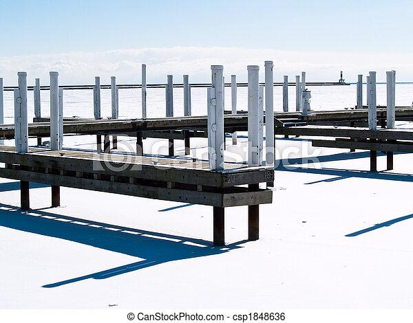 Frozen Harbor - csp1848636