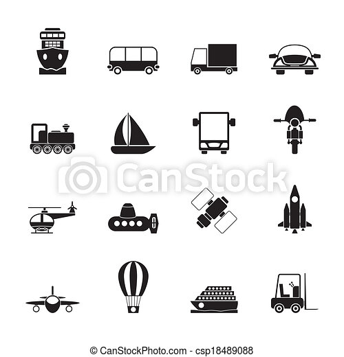 Transportation and travel icons - csp18489088