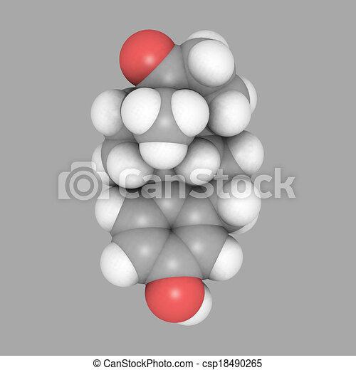 Stock Illustration of estrogen molecular structure space