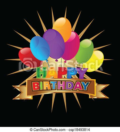 Vector of Happy Birthday design - csp18493814