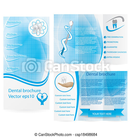 Dental illustration brochure design - csp18498684