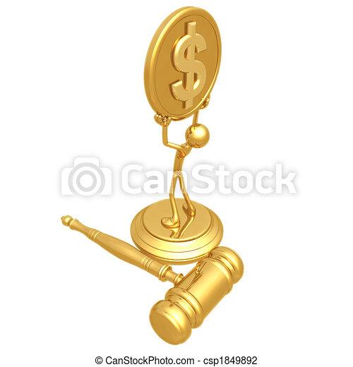 Large Court Settlement - csp1849892