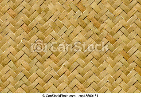 pattern nature background of handicraft weave texture wicker  - csp18500151
