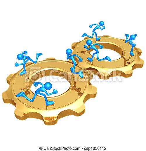 Cooperating Gear Running Teams - csp1850112