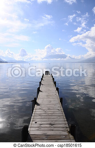 Quiet view of Annecy lake - csp18501615