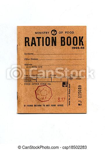 1944-45 Wartime Ration Book - csp18502283