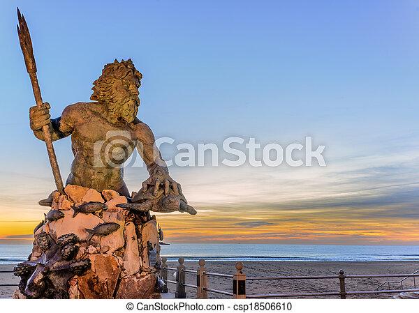 King Neptune at Neptune Park, Virginia Beach - csp18506610