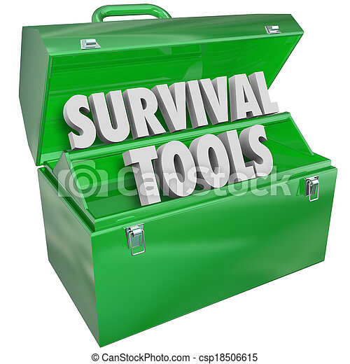 Survival Tools Toolbox Skills Knowledge How to Survive - csp18506615