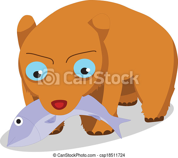 How To Draw A Bear Eating A Fish