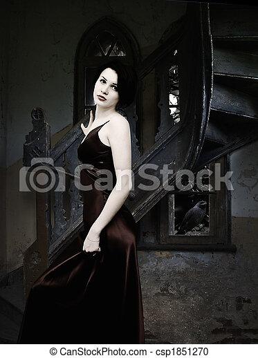 Woman in Castle