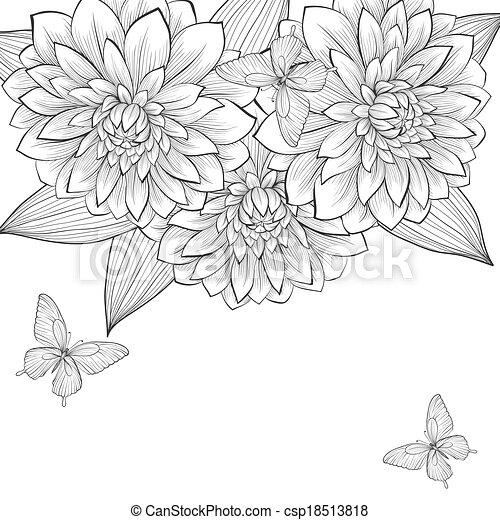 Clipart Flower Lines