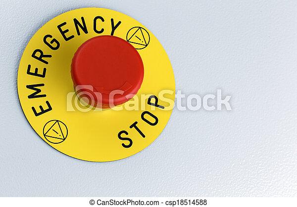 Emergency Button - csp18514588