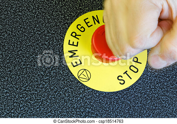 Emergency Button - csp18514763