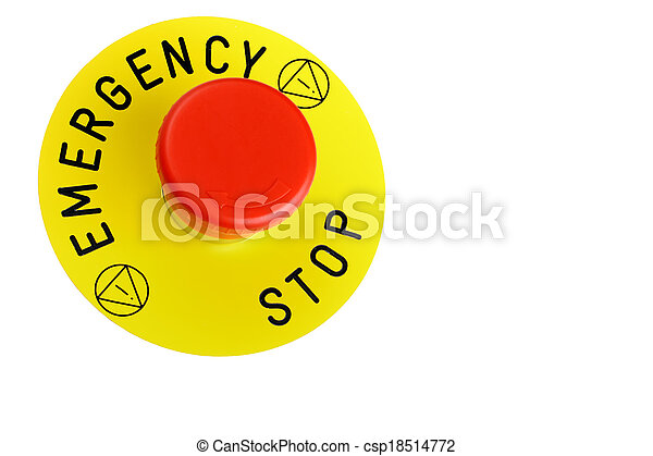 Emergency Button Isolated On White - csp18514772