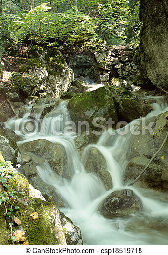 Waterfall in Savoy, France