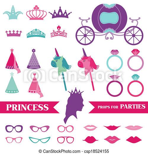 Party Rings Drawing Princess Party Set