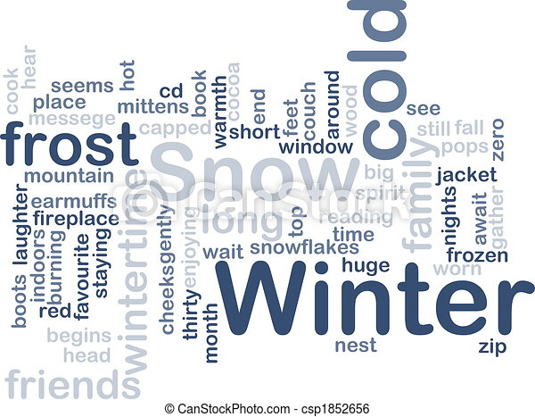 Winter Word Art Stock illustration of winter wordcloud - word cloud ...