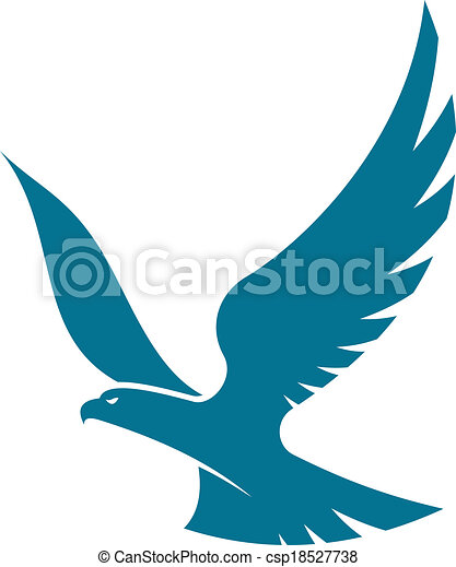 eagle soaring high in the sky with outspread wings, silhouette vector ... Eagle Silhouette Vector