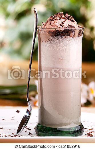 Chocolate Milk Float - csp1852916
