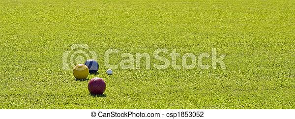 Balls on Green Grass - csp1853052