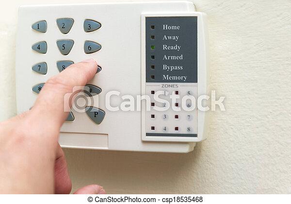 Home alarm system - csp18535468