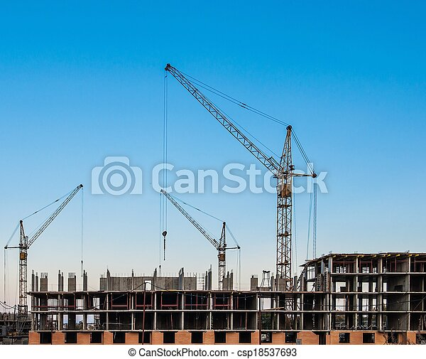 construction of residential buildings - csp18537693