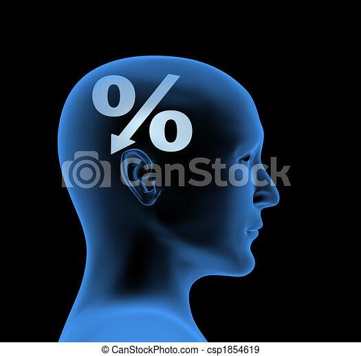 Percentage - an index of intelligence - csp1854619
