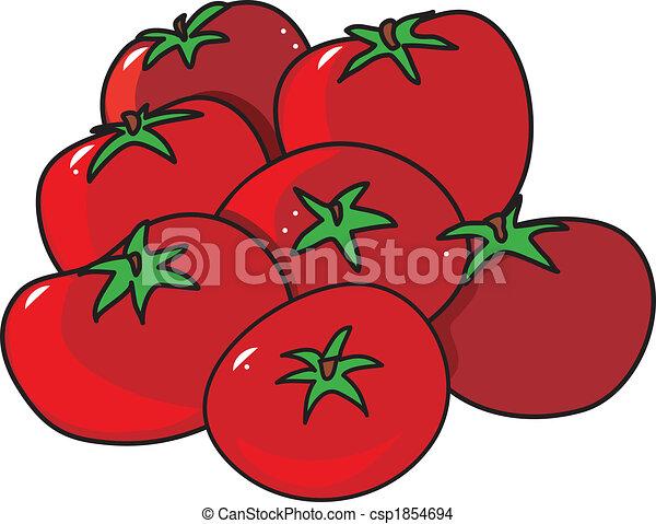Dessin de tomates a groupe de rouge clair tomates sur a fond csp1854694 recherchez - Tomate dessin ...