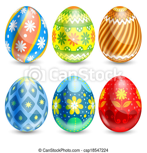 Easter eggs - csp18547224