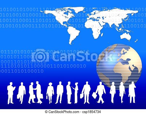 worldwide business people - csp1854734