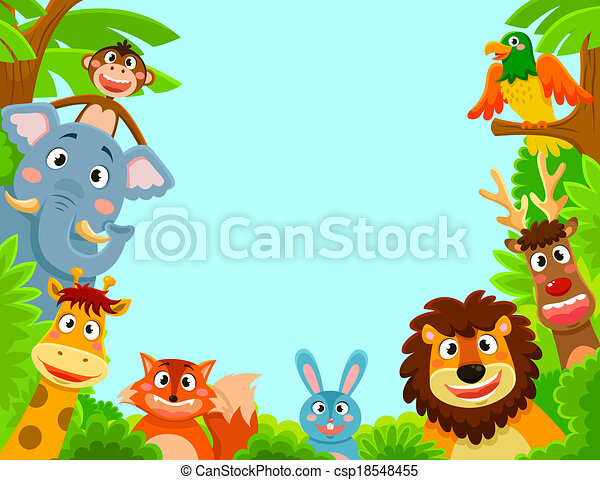 Clipart Vector Of Animals Frame