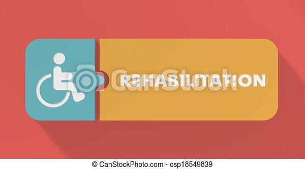Rehabilitation Concept in Flat Design. - csp18549839