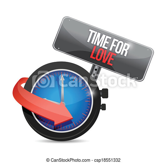 time for love concept illustration  - csp18551332