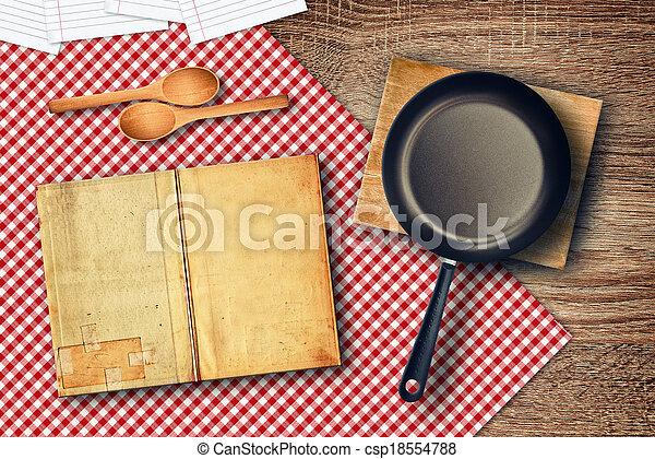 Food preparation on kitchen table