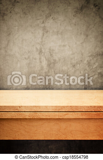 Empty wooden table top for product placement - csp18554798