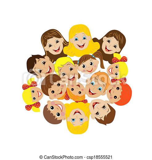Ilustraciones De Vectores De Muchos Ni 241 Os Obtenido