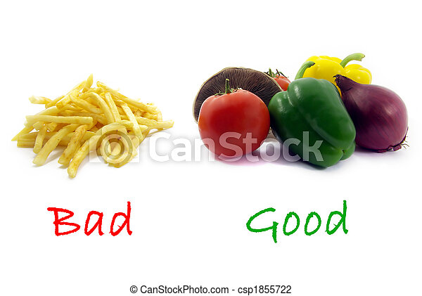 Good healthy food, bad unhealthy food colors - csp1855722