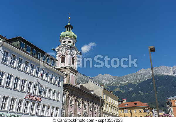 The Spital church in Innsbruck, Austria - csp18557223