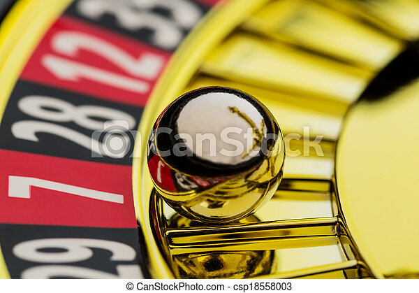 roulette gambling in the casino - csp18558003