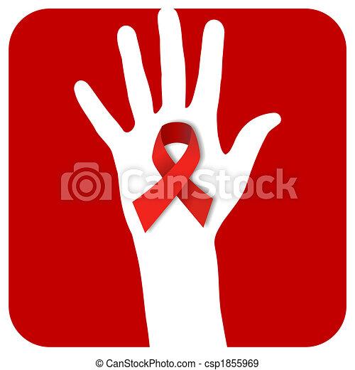 Stop AIDS hand - csp1855969