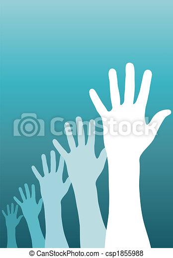 Raised hands - csp1855988