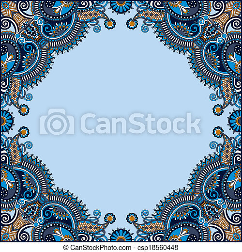 Ornamental floral pattern with place for your greetings - csp18560448