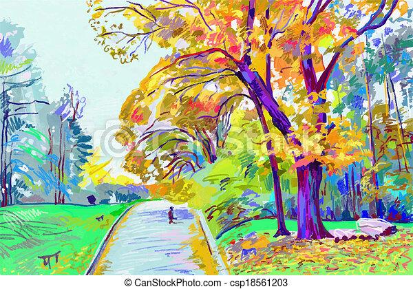 Autumn Landscape Drawing of Autumn Landscape
