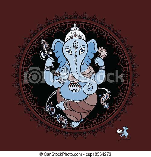 Ganesha Hand drawn illustration. - csp18564273