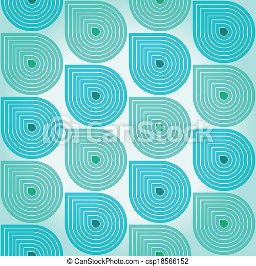 Clipart Vector of Pattern with falling water drops - Stylized retro ...