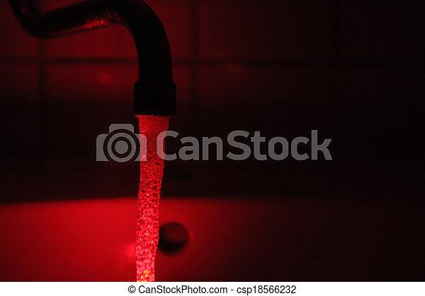 secret red water