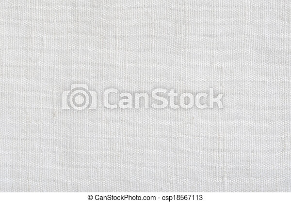Natural Bright White Flax Fiber Linen Texture, Detailed Macro - csp18567113