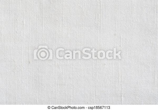 Natural Bright White Flax Fiber Linen Texture, Detailed Macro - csp18567113